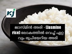 ലോകത്തിൽ വെച്ച് ഏറ്റവും രുചിയേറിയ അരികളിൽ ഒന്നാണ് ജാസ്മിൻ അരി (Jasmine rice).