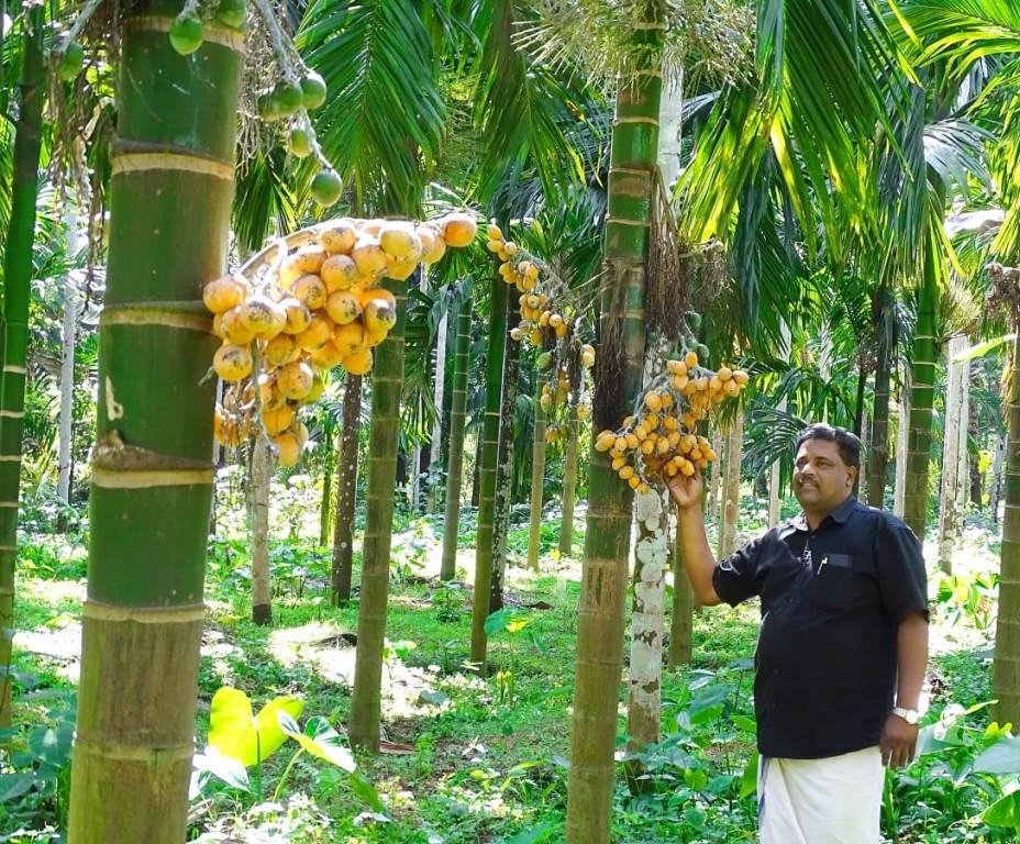 biju narayanan at his farm