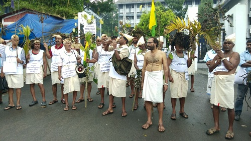 farmers protest march