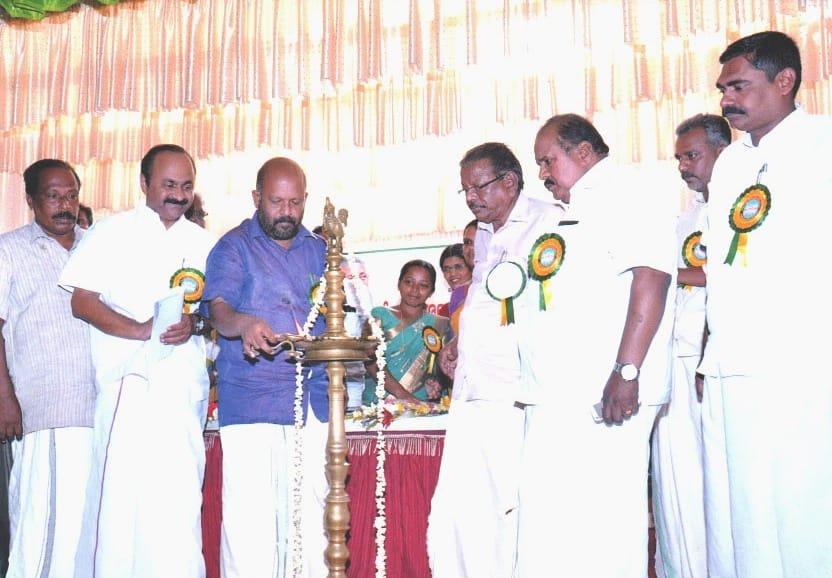 minister V.S.Sunilkumar inaugurating the bund