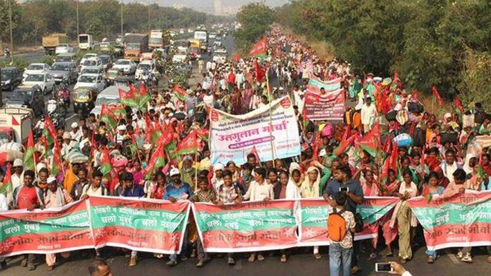 farmers protest in Mumbai