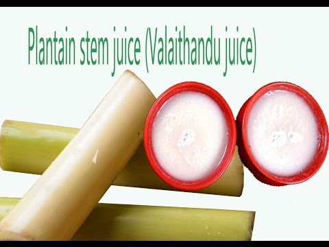 plantain stem juice