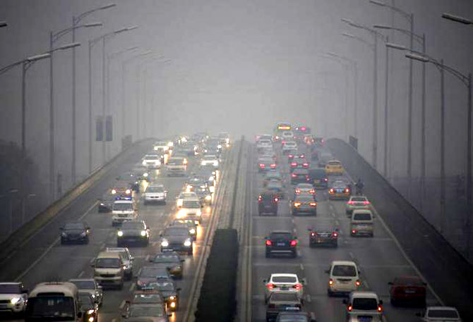 highly polluted city